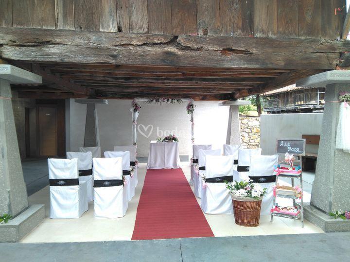 Ceremonia en hórreo