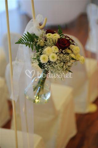 Detalle floral de la ceremonia civil