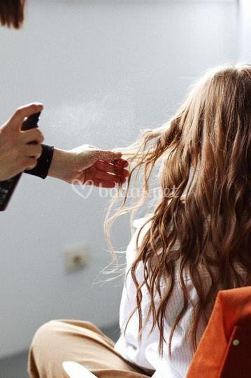 Peinado de novia con onda suave