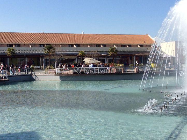 Fuente y lago parquesur