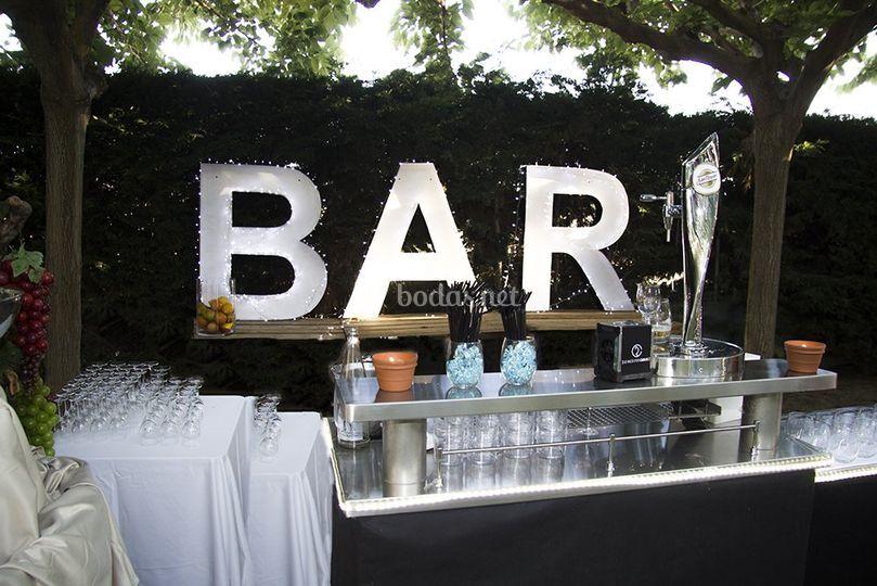 Bar del jardín