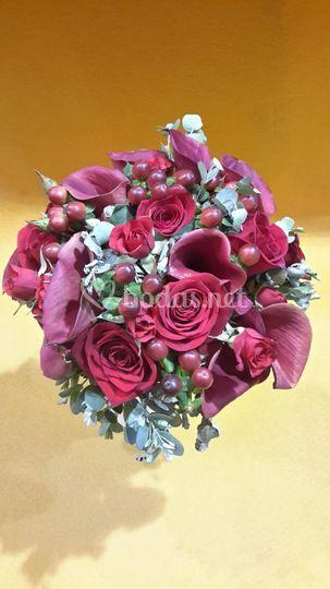 R novia Calas y rosas