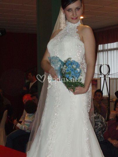 Ramo de novia flores azules