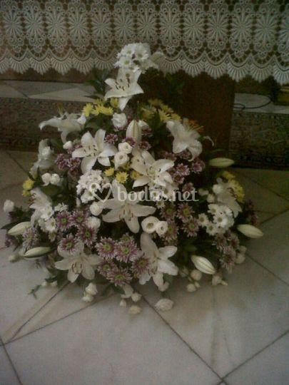 Centro de flores iglesia
