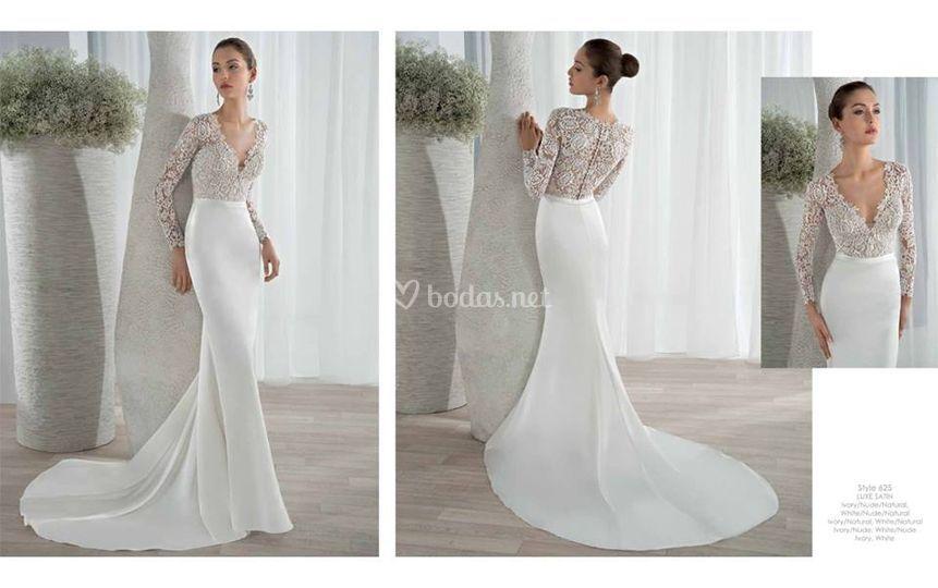 Sant patrick 2016 de novias ursula escoriza fotos for Long sleek wedding dresses