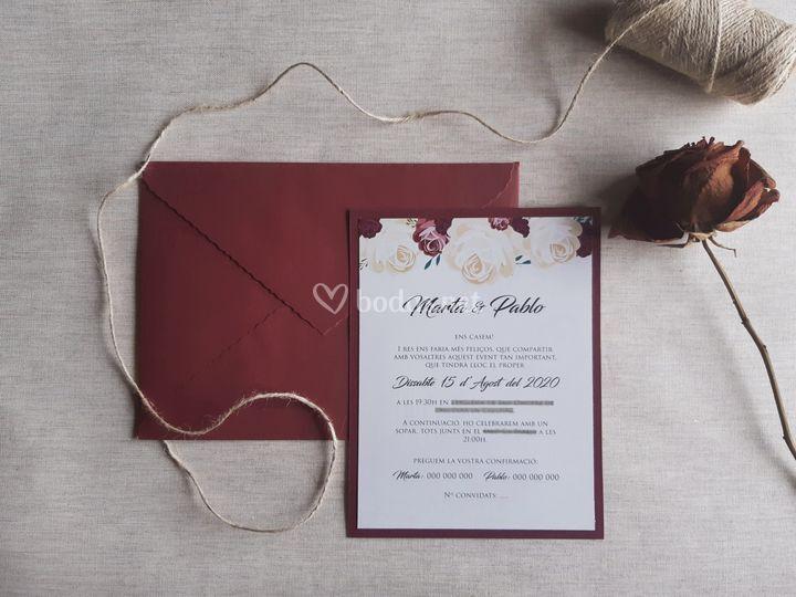 Invitación classic rose