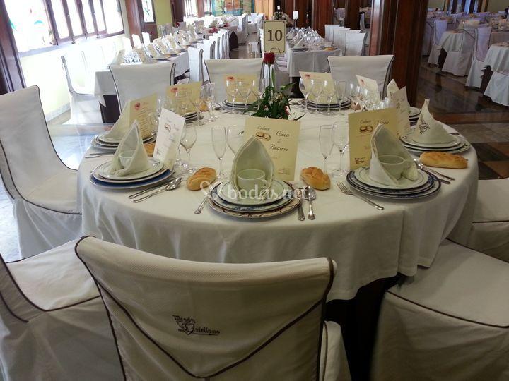 Mesa redonda de boda