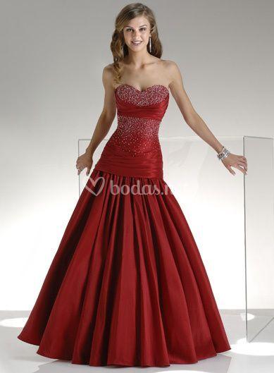 Vestido de fiesta rojo pasión (Ref. Mermaid013)