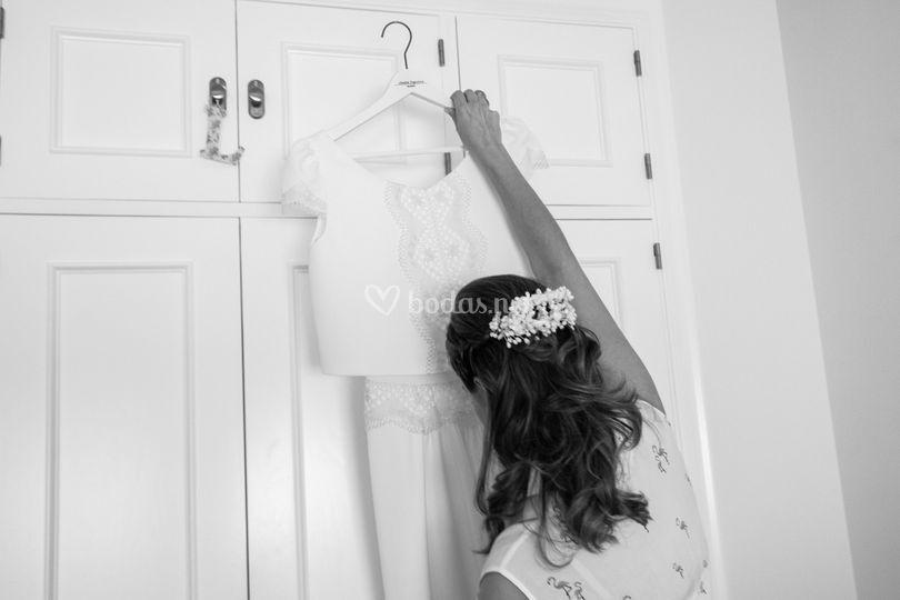 Cogiendo el vestido