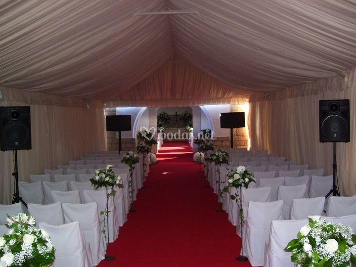 Sonorización para boda celebrada en finca particular