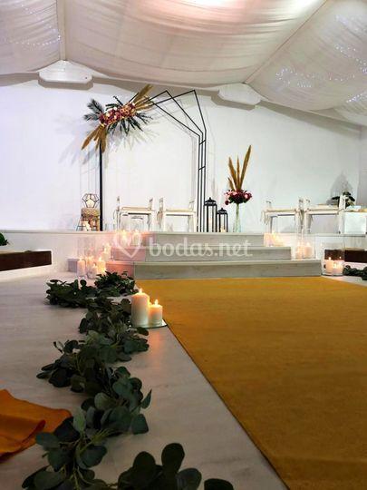 Salón Blanco Satén
