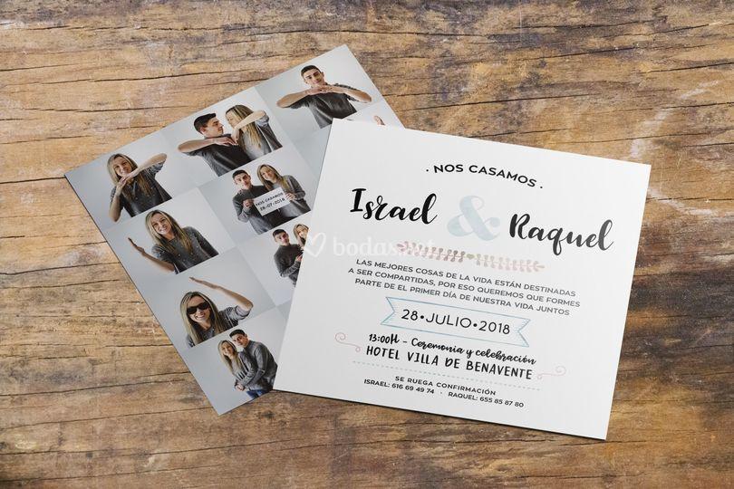 Invitación fotos corazón
