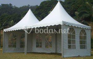 Tecnocarpas Carpa Pagoda tipo jaima 5x5 y 10x10 para eventos
