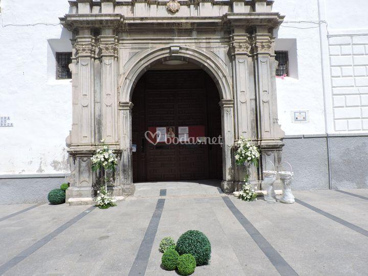 Decoración exterior iglesia