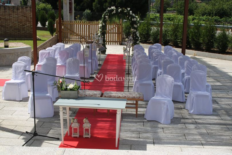 Arco en ceremonia civil