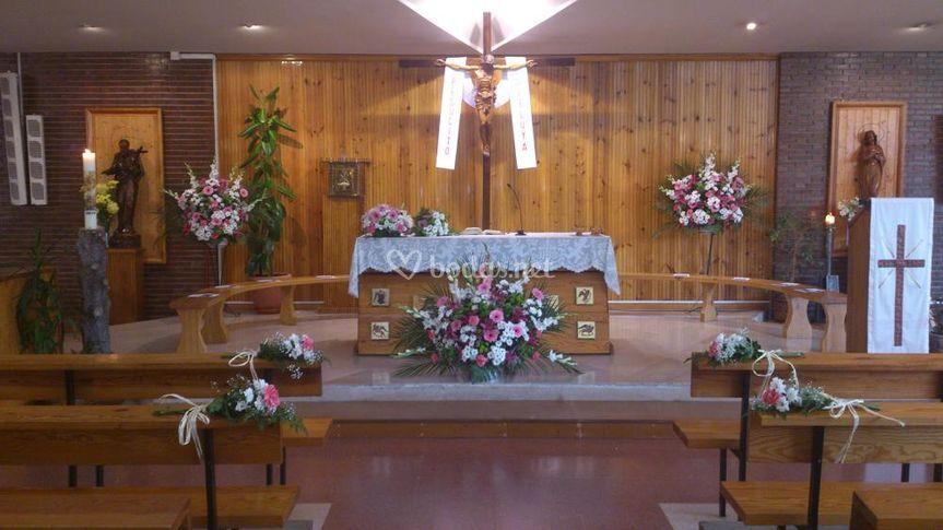 Decoración del interior de la Iglesia