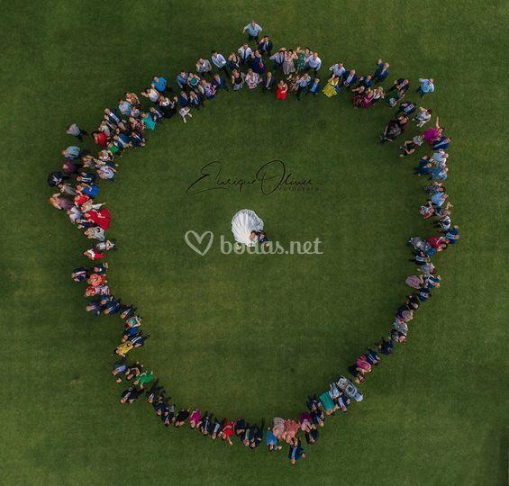 Fotos de boda con dron