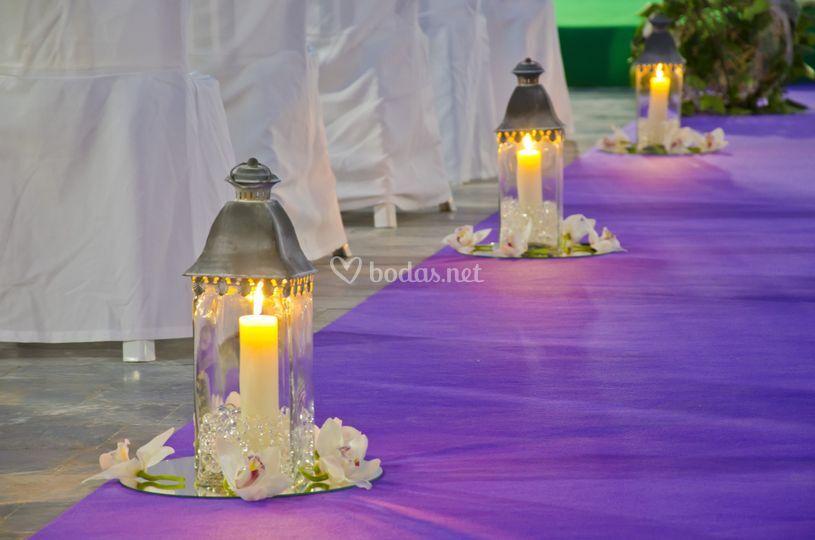 Flores boda civil