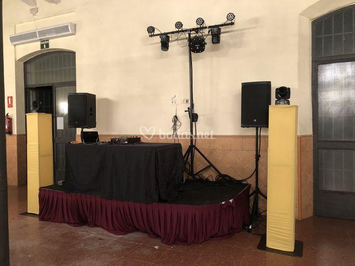 Montaje completo sonido-luces