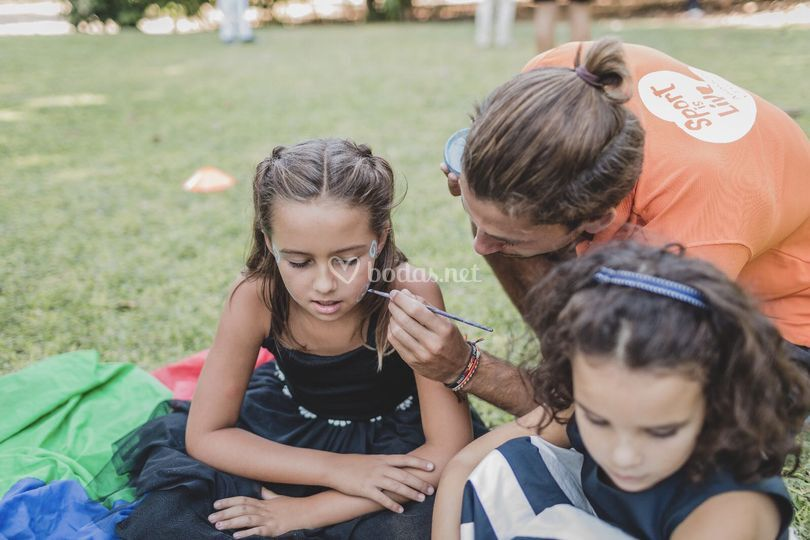 Face painting boda niños Top