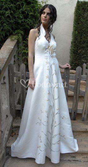 Vestidos de novia en raso