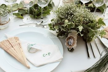 Servilletas personalizadas para el banquete de boda