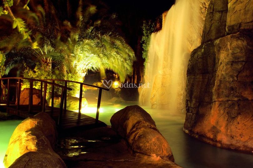 Vista nocturna Lagoon