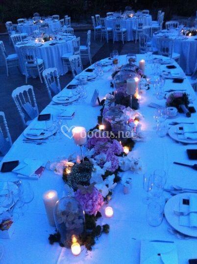 Centro mesa nocturno.