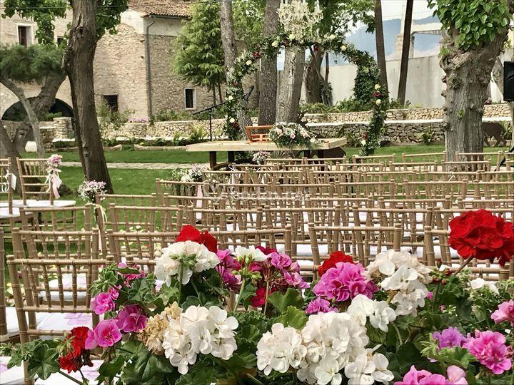 Ceremonia civil en jardines