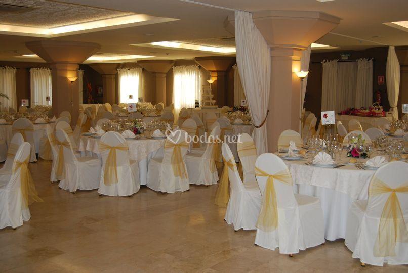 Vista del salón de bodas