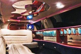 Interior de la limusina por la noche