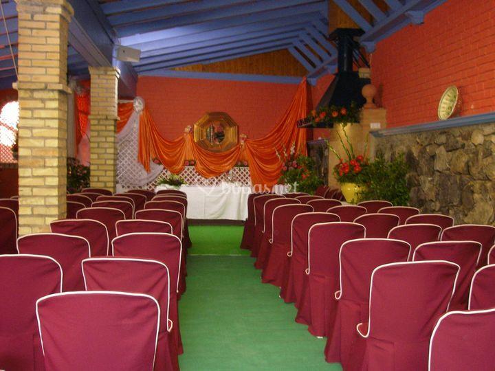 Ceremonia civil zona barbacoa
