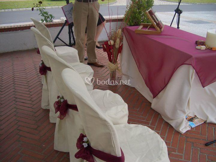 Detalle boda civil