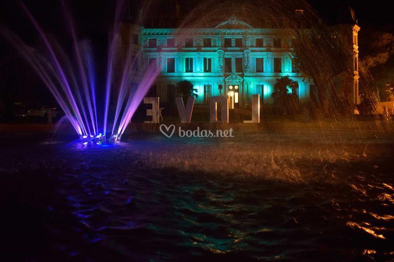Palacio con iluminación extra
