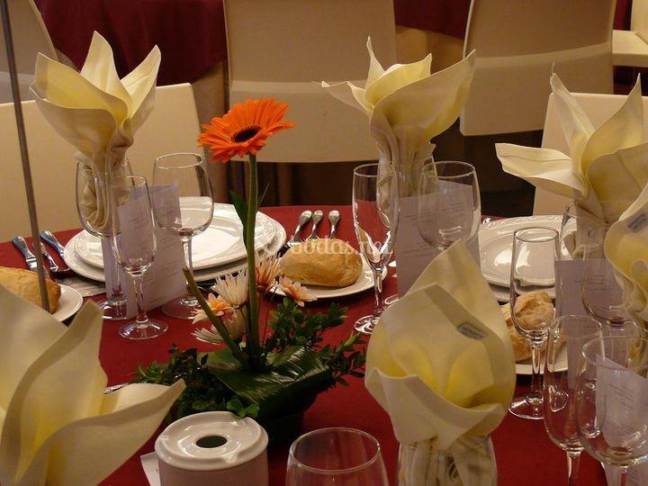 Detalle de una mesa