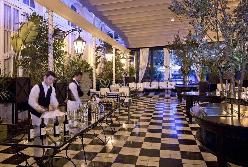 Banquete sal n gran via de hotel el palace fotos for Hotel jardin barcelona