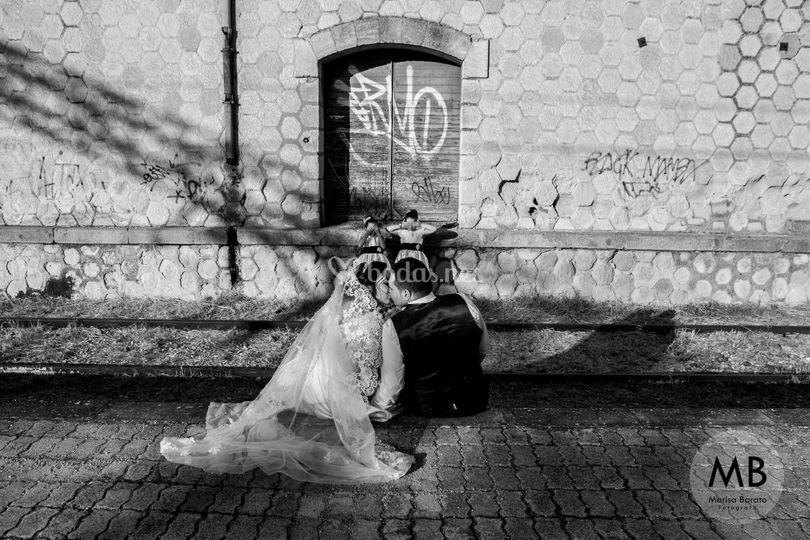 Día de la boda, niñas arras