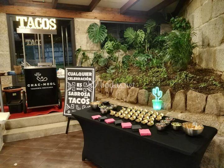 Tacos en bodas
