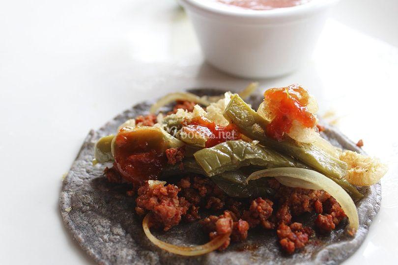 Tacos auténticos