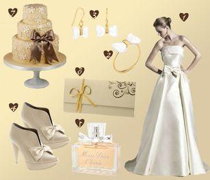 Look de novia para novias que adoran los lazos