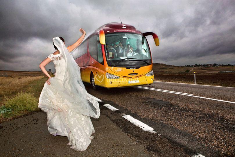 Autobús de invitados
