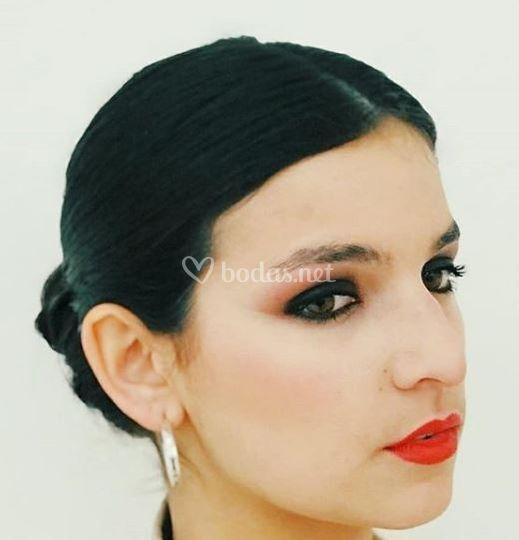 Maquillaje atrevido