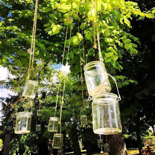 Decoracion velas jardines