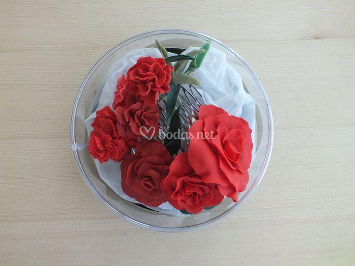 Peinecillos claveles/rosas