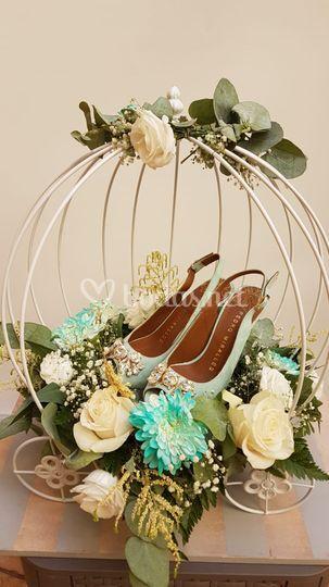 Urna para zapatos de novia