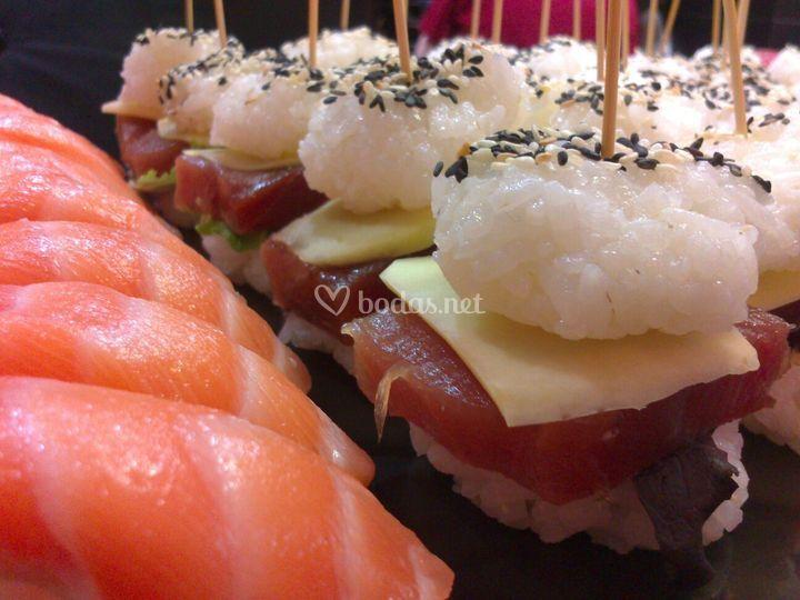 Sushi en el coctel