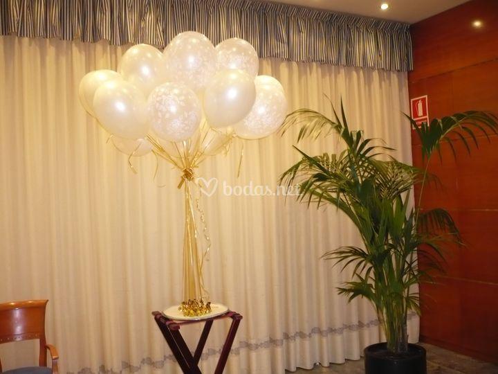 Ramos de globos con bombones