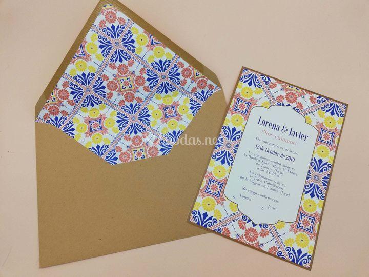 Invitación azulejos