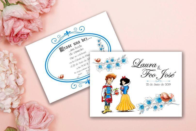 Invitación Blancanieves