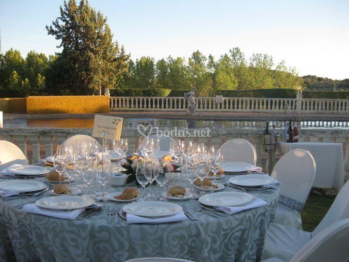 Banquete con vistas